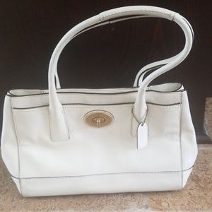 Coach White Purse
